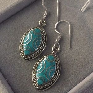 NEW GorgTibetan turquoise Nepalese Earrings